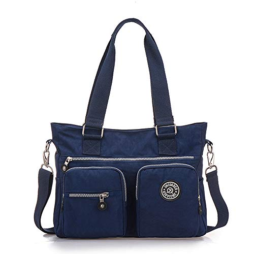 Nameblue Womens Girls Handbags Shoulder Bag Messenger Bag Nylon Tote Bag for School Work Travel and Shopping 1309-EU 3118-dark Blue