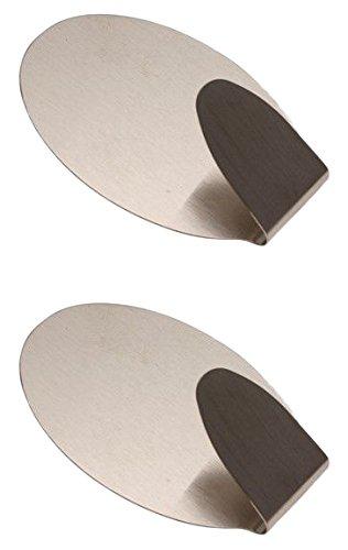 4,5 x 7 cm 88232 Traglast maximum 1,5 kg 2-teilig Kraftmann Edelstahl Klebehaken