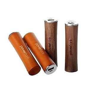 Batería Externa 2000Mah Madera Forma Juego Para Dispositivos Móviles Beige