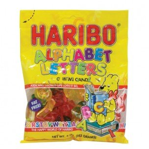 HARIBO ALPHABET LETTERS 5 OUNCES 12 COUNT by Haribo