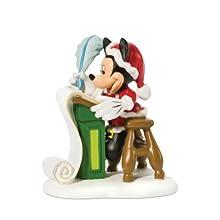 Department 56 Disney Village Accessory Figurine, Mickey Checking the List Twice