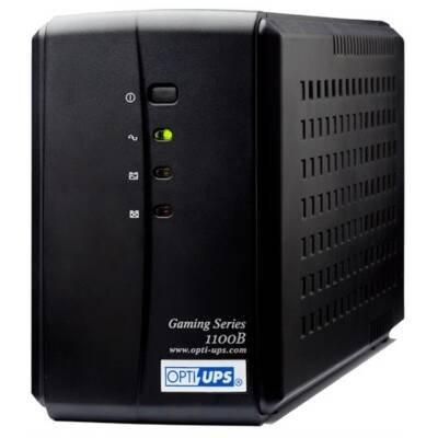 Opti-UPS GS1100B 1100VA 1050 Joules 6 Outlets RJ11/45 USB Software SB Communication Port