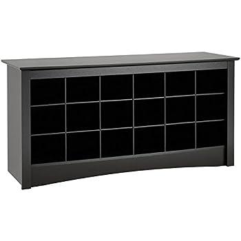 Surprising Prepac Shoe Storage Cubbie Bench 24 X 48 X 16 Black Caraccident5 Cool Chair Designs And Ideas Caraccident5Info