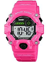 Girls LED Sport Digital Watch,Waterproof Electronic...