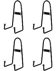 Garta 4 Pack Wall Mount Plate Display Stands, Medium Wall Easel Holder Plate Hanger Vertical Plate Stand Holders Wine Rack