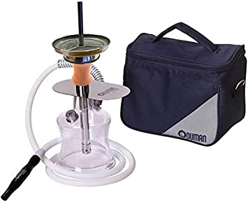 Oduman N2 Travel - Shisha (Oduman N2 Travel + juego de chimenea Atom + Cocobrico 1,25 kg)