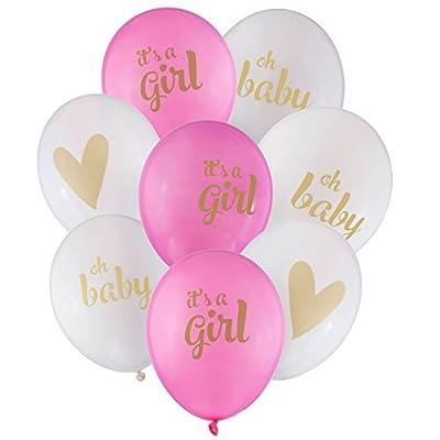 Amazon Baby Girl Gold Latex Balloons Pink White 12 Shower