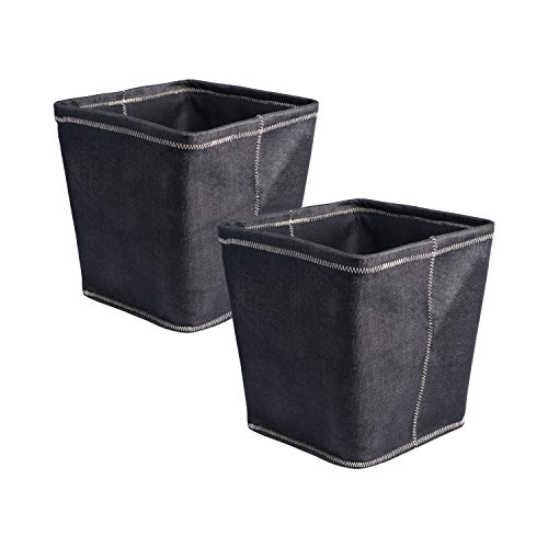DII Collapsible Polyester Storage Basket or Bins, Home Organizer Solution for Home, Office Desk, Shelf, Bedroom & Closet (Set of 2 Large Cubes - 13
