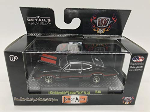 M2 Machines Detroit-Muscle 1970 Oldsmobile Cutlass 442 W-30 1:64 Scale R38 17-23 Black/Red Details Like NO Other! Over 42 Parts 1 of 6000