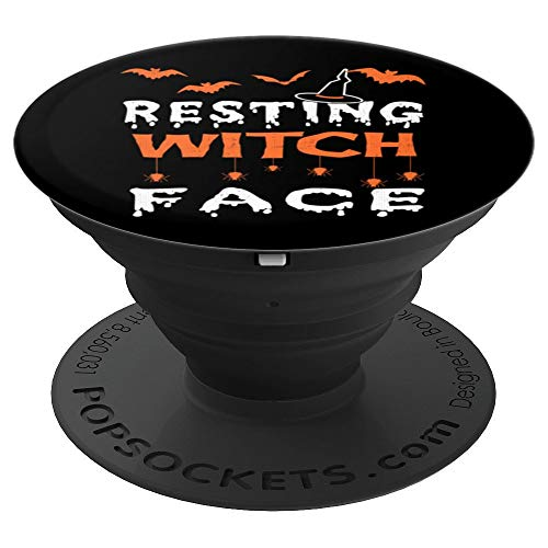 Resting Witch Face Funny Halloween Broom Cauldron -