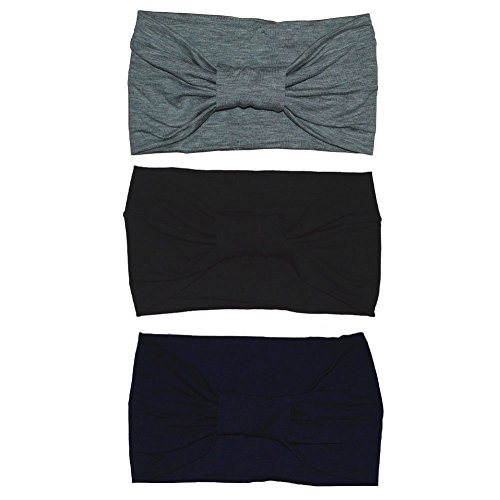 Women's Sweat Wicking Workout Headbands Head Wrap Best Looking Head Scarf Headband for Sports or Fashion, or Travel,3 Pack