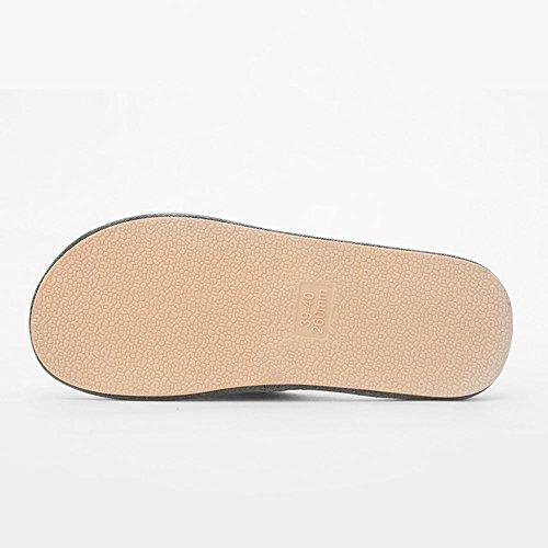 Cadono Pantofole Lino Dimensioni Vino Donne 40 Antisdrucciolo Rosso Coppie Zhirong 39 In Spesse Di Grigio E Colore Uomini Casa wgxAt