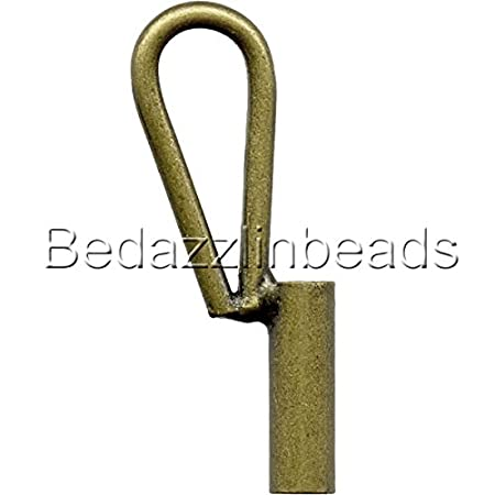 5 Vertical Brooch Converters for Changing Brooches and Pins to Pendants Plated Brass Metal (Antique Bronze) Bedazzlinbeads
