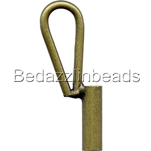 (Vertical Brooch Converter for Changing Brooches and Pins to Pendants Plated Brass Metal (Antique Bronze))