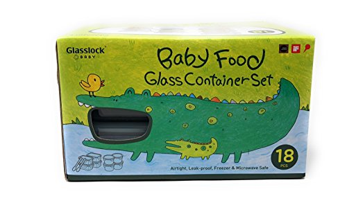 Glasslock Baby Food Glass Container Set, 18 pcs