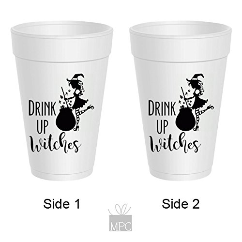 Halloween Styrofoam Cups - Drink Up Witches Cauldron