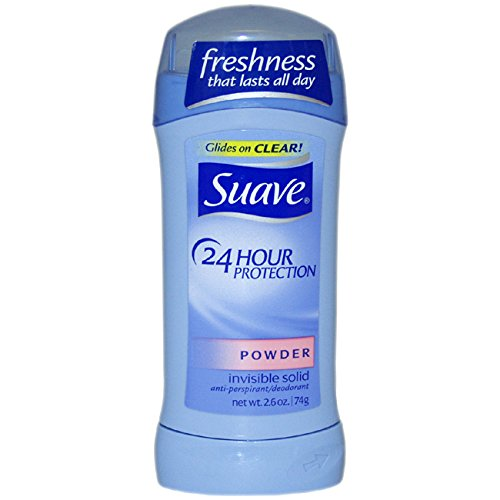 Suave 24 Hour Protection Powder Invisible Solid Anti-Perspirant Deodorant Stick, 2.6 Ounce