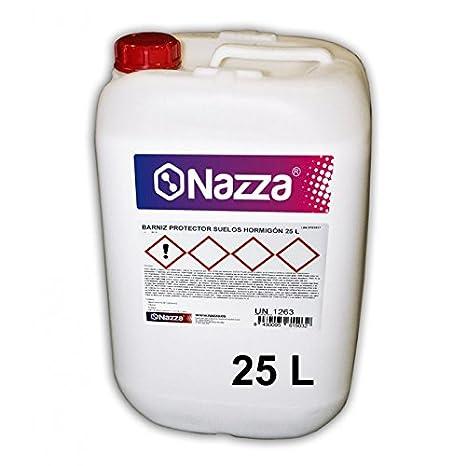 Resina para Suelos Hormigó n AL AGUA | Barniz Protector Transparente | Efecto Piedra Mojada | 25 Litros Nazza