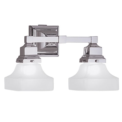 Norwell Lighting 8122-BN-PY Birmingham - Two Light Wall Sconce, Glass Options: Pyramid Shape Glass, Choose Finish: BN: Brushed (Norwell Nickel Sconce)