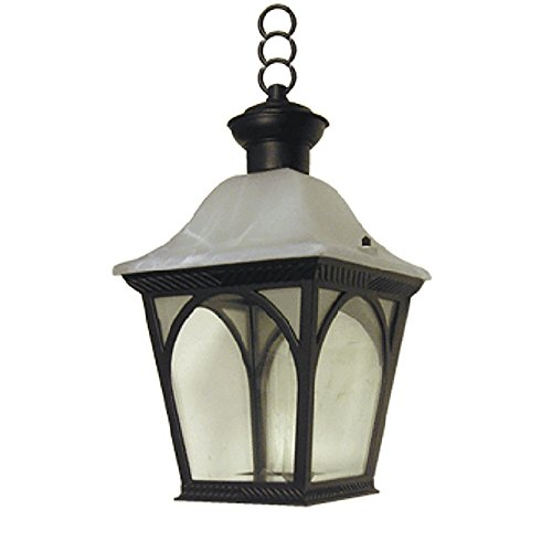Frost Incandescent Pendant - eTopLighting Lo Albergo Collection Oil Rubbed Black Finish Outdoor Pendant Hanging Lantern Light frost Glass APL1143