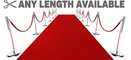 (Non Slip Any Length Outdoor Hollywood Red Carpet Runner Rug 133cm (4ft 4