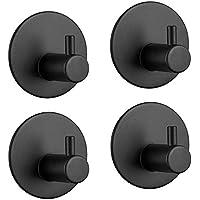 [4 Pack] Stainless Steel Wall Hook, 4 self-Adhesive Hooks, Endurance Wall Hook, Towel Hook, Hook, Waterproof Rod…