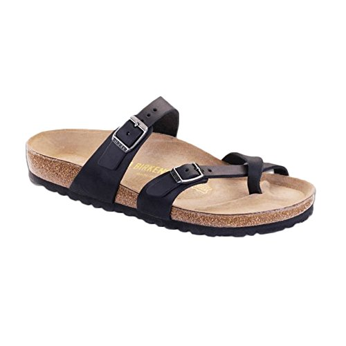 Birkenstock Women's Mayari Oiled Leather Sandal,Black,36 EU/5-5.5 M US ()