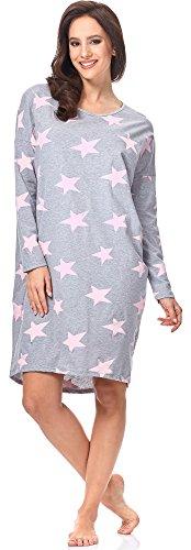 Donna 0115 da Notte Rosa Camicia IF per Star Fashion Melange Italian wIxq8Yt6v