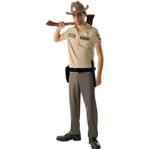 The Walking Dead TV Show Teen Rick Grimes Costume, Khaki, Teen Standard