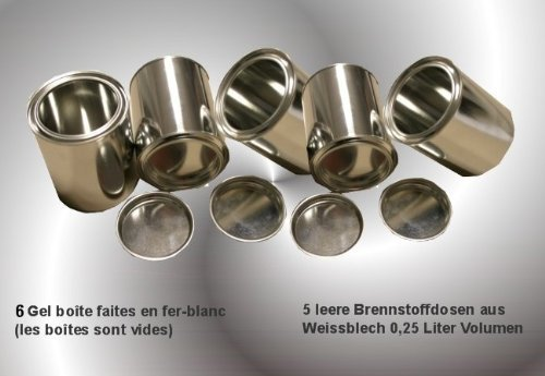 6 fuel cans, made from tinplate, 0.25 litre each Germany)
