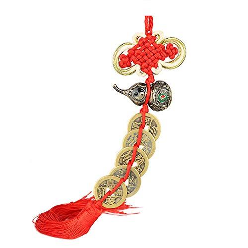 (Wooden Wu Lou for Chinese Feng Shui, Chinese Good Luck Wu Lou/Hu Lu Hanging Tibet Luck Design Amulet Handbag Charm)