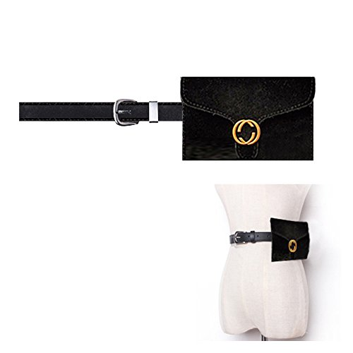 Woman velvet fanny pack ,VITORIA'S GIFT removable Belt with MINI Purse Travel Cell Phone(not more than 5 inch) Bag by VITORIA'S GIFT