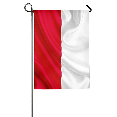 LRIEWH Poland Glorious Flag Satin.jpeg Welcome Garden Flag,Weatherproof Polyester Fabric,12x18,18x27 Inches -