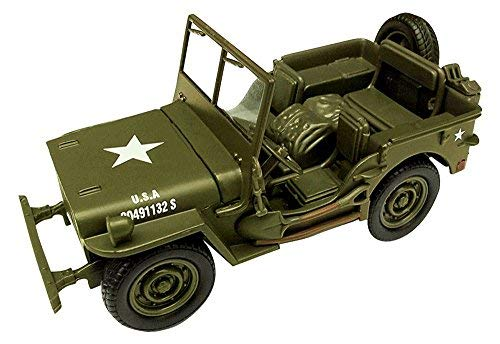 New Ray Jeep Willys 1:32 Scale Die Cast Model Car WW II Military US Army Vehicle from New Ray