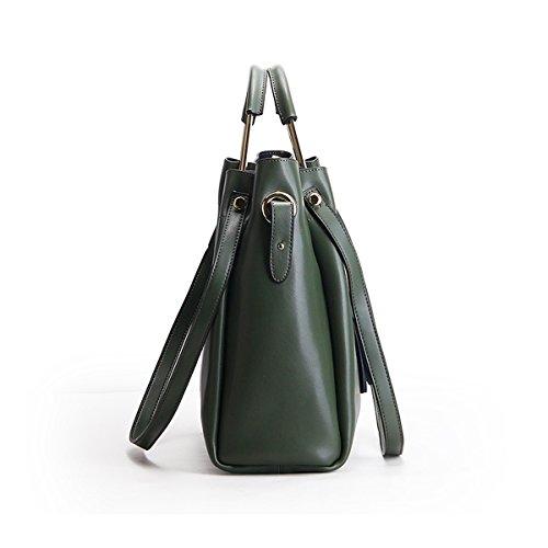 fashion en Valin bandoulière portés épaule main main Vert Sac Sac portés femme LF Sac à cuir M168 Sac ppqfgX