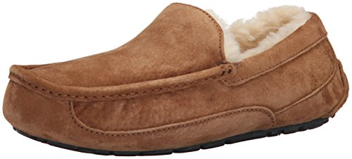 - UGG Men's Ascot Slipper, Chestnut, 10 M US