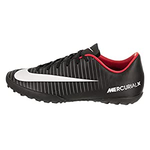 Nike Kids Jr MercurialX Victory VI TF Black/White/Dark Grey Turf Soccer Shoe 4.5 Kids US