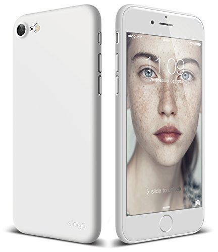 elago iPhone 8 Case [Inner Core][White] - [Device Fitting Tested][Minimalistic][Scratch Protection Only][True Fit] - for iPhone 8