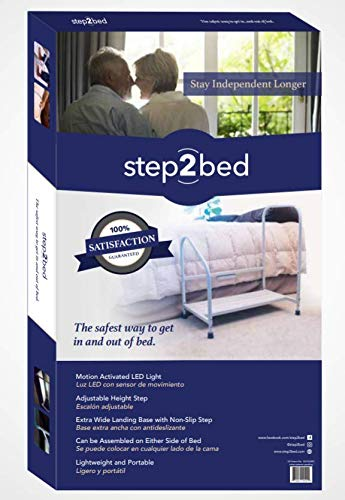 Amazon Com Step2bed Bed Hand Rail Adjustable Height Bed Step Stool