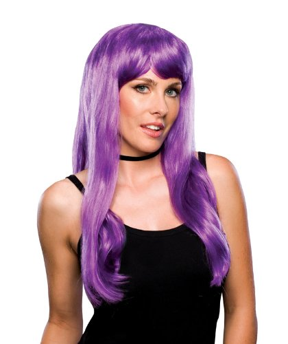 [Rubie's Costume Glamour Wig, Violet, One Size] (Purple Wig Costumes)