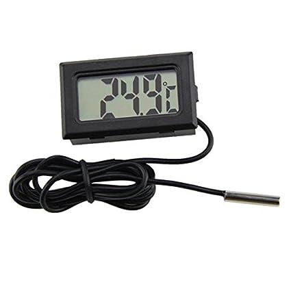 Termómetro Digital LCD con Sonda para Acuario Terrario congelar tamaño Temperatura Ambiente