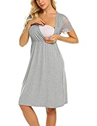 c289da0c299c1 Womens Delivery/Labor/Maternity/Nursing Nightgown Pregnancy Gown for  Hospital Breastfeeding Dress