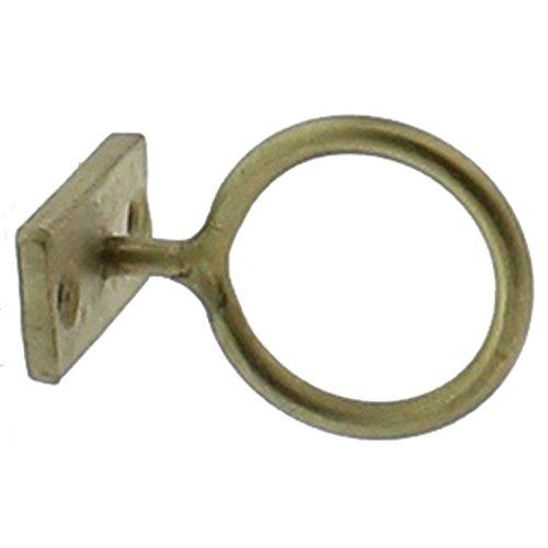 Gold Wall Bracket (Set 4 Brass Gold Metal Wall Ring Hooks | 2