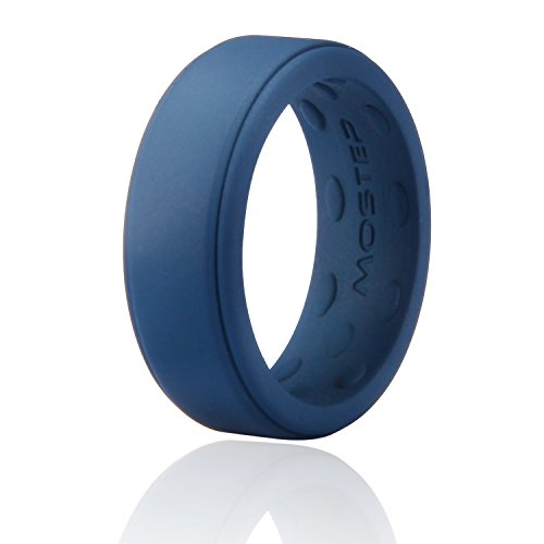 Skin Slicone - M-MOSTEP Silicone Wedding Ring, Slicone Ring for Men and Women, Premium Medical Grade Stackable Rubber Bands, Breathableand Comfortable Fit & Skin Safe Ring
