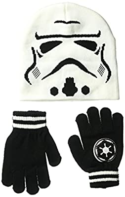 Star Wars Storm Trooper Knitted Beanie and Glove Set