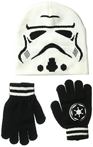 Star Wars Boy's Big Kids Storm Trooper Hat & Glove Set, White, OneSize for $<!--$11.99-->