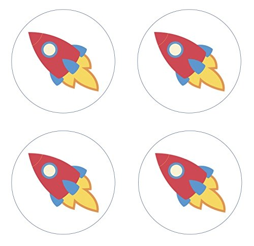 Rocket Spaceship Cupcake Toppers Decoration product image