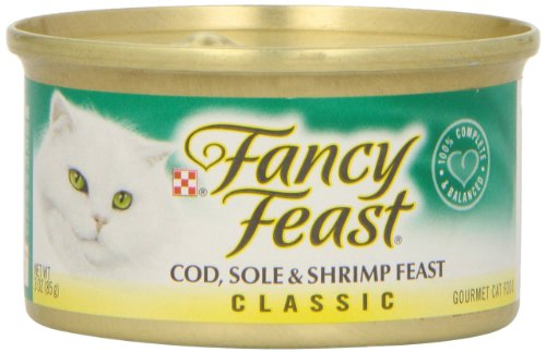 Purina Fancy Feast Classic Cod, Sole & Shrimp Wet Cat Food - 3oz Can