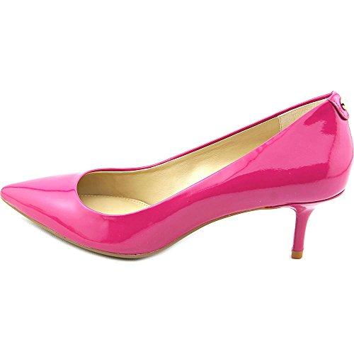 Michael Kors escarpins chaussures femme à talon en cuir mk flex kitten fuxia