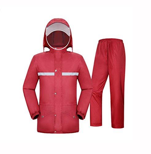 Chubasquero Impermeable Rain Gear Impermeable Pantalones de Lluvia Traje Impermeable Completo Cuerpo Impermeable Doble Adulto...